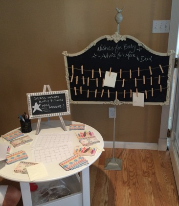 Baby shower game table 2