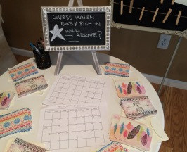 Baby shower game table